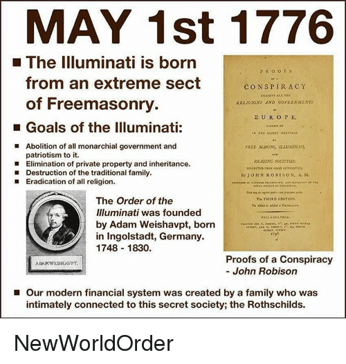 may 1st 1776 l the illuminati is born p r 14571664
